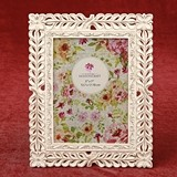 FashionCraft Ivory with Rose Gold Rub Lattice Design 5 x 7 Frame