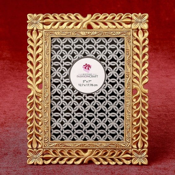 FashionCraft Magnificent Gold Lattice 5 x 7 Frame