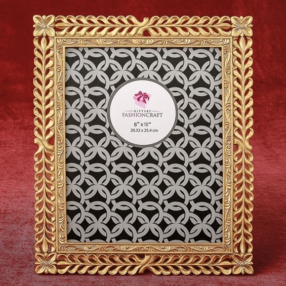 FashionCraft Magnificent Gold Lattice 8 x 10 Frame