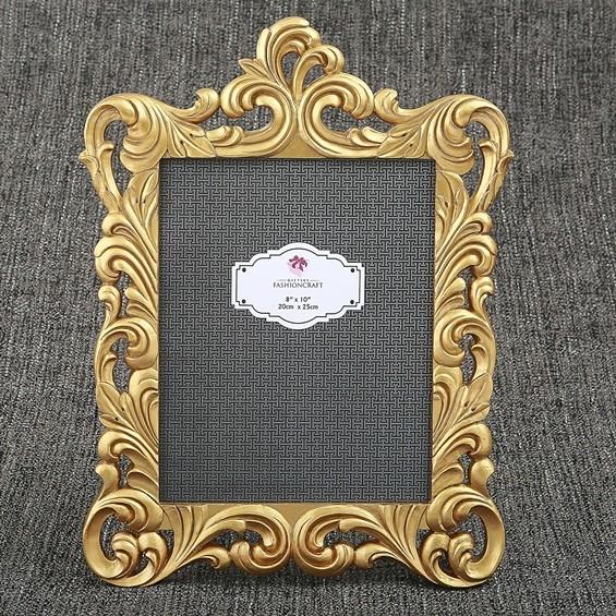 FashionCraft Baroque Gold Openwork Border Design 8 x 10 Frame