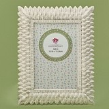 FashionCraft Brushed Ivory Leaf Design 4 x 6 Frame