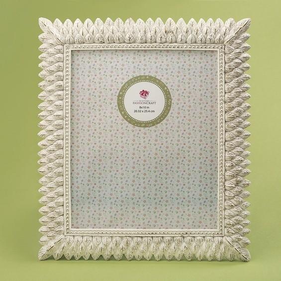 FashionCraft Brushed Ivory Leaf Design 8 x 10 Frame
