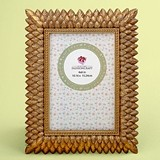FashionCraft Brushed Gold Leaf Design 4 x 6 Frame