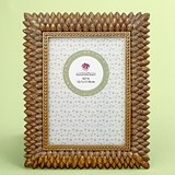 FashionCraft Brushed Gold Leaf Design 5 x 7 Frame