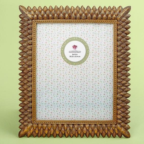 FashionCraft Brushed Gold Leaf Design 8 x 10 Frame