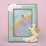 FashionCraft Magical Unicorn and Puffy White Clouds Design 4 x 6 Frame