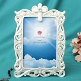 FashionCraft Stunning Pearl White 4x6 Cross Frame/Table Number Holder