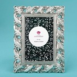 FashionCraft Magnificent Antique Silver Leaf Design 4x6 Frame