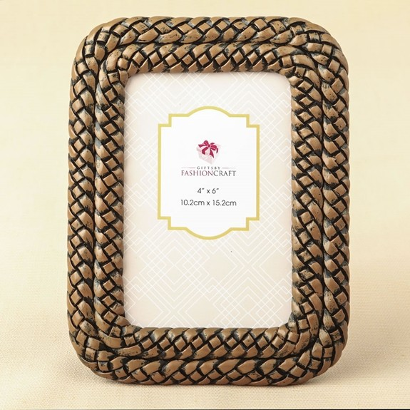 Double-Braided Caramel-Color 4 x 6 Frame/Table Number Holder