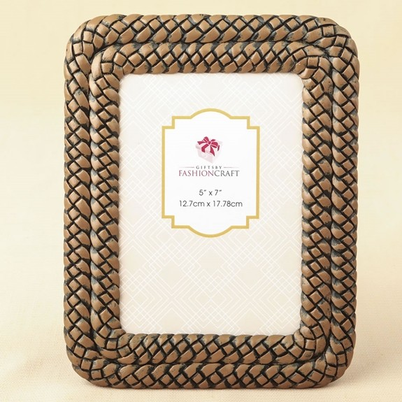 Double-Braided Caramel-Color 5 x 7 Frame/Table Number Holder