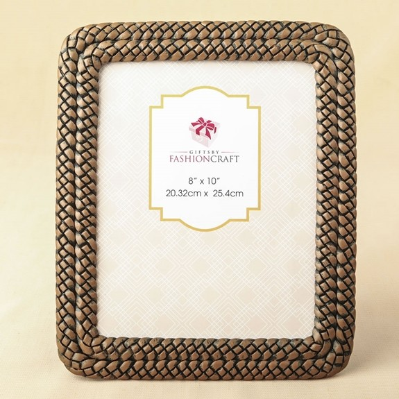Double-Braided Caramel-Color 8 x 10 Frame/Table Number Holder