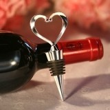 FashionCraft Beautiful Heart-Topped Chrome Wine Bottle Stopper