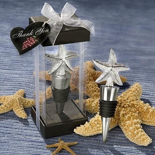 FashionCraft Elegant Starfish Design Bottle Stopper Favor
