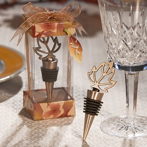 FashionCraft Autumn Themed Wine Bottle Stopper