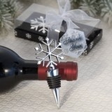 FashionCraft Elegant Snowflake Design Wine Bottle Stopper Favor