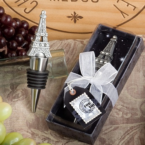FashionCraft Eiffel Tower Wine Bottle Stopper Favor