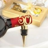 Celebrate 50 Years Bottle Stopper with Rhinestone Accents