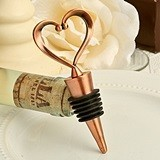 "Vintage Copper-Finish ""One Love, One Heart"" Bottle Stopper"