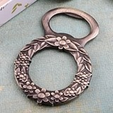 FashionCraft Botanical Floral Wreath Design Bronze Metal Bottle Opener