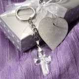 FashionCraft Choice Crystal Cross Keychain