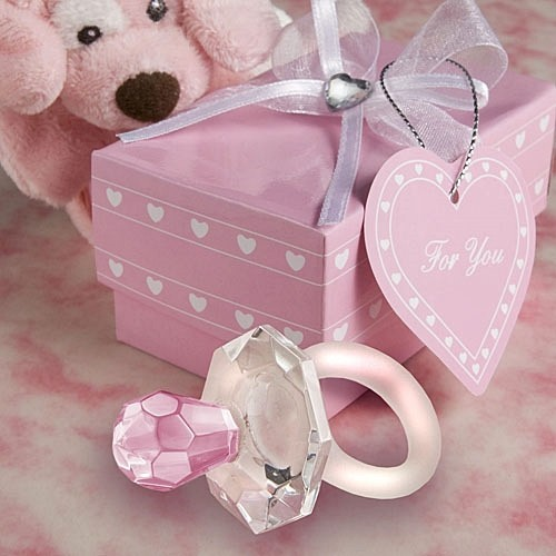 FashionCraft Choice Crystal Pink Pacifier Favor