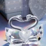 FashionCraft Choice Crystal Collection Kissing Swans