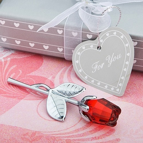 FashionCraft Choice Crystal Collection Red Rose Favor