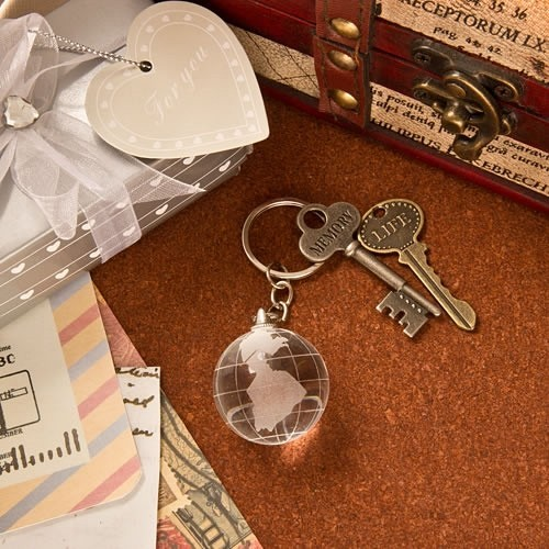 FashionCraft Choice Crystal Collection Crystal Glass Globe Key Chain