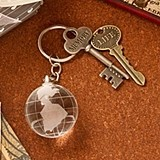 FasionCraft Choice Crystal Collection Crystal Glass Globe Key Chain