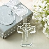 FashionCraft Choice Crystal Collection Cross with Deep Etch of Jesus