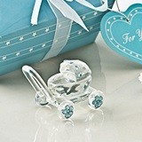 Choice Crystal Collection Crystal Baby Carriage with Blue Crystals