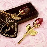 FashionCraft Choice Crystal Collection Gold-Plated Long Stem Red Rose