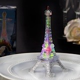 Clear Acrylic Eiffel Tower Replica Favor with Colorful LED Lights