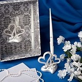FashionCraft Interlocking Hearts Design Wedding Pen Set