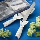 FashionCraft Butterfly Design Cake Knife/Server Set