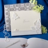 FashionCraft Butterfly Design Wedding Guest Book