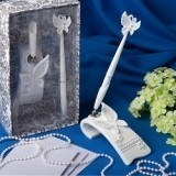 FashionCraft Butterfly Design Wedding Pen Set