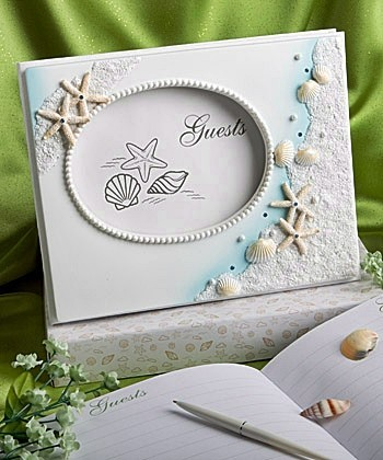 beach themed wedding guest book personalized gifts and party favors