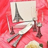 Eiffel Tower Design Wedding Day Accessories Set