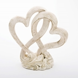 Fashioncraft Vintage Style Double Heart Design Cake Topper/Centerpiece