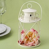 FashionCraft Ivory-Finish-Metal Lighthouse Lantern Centerpiece