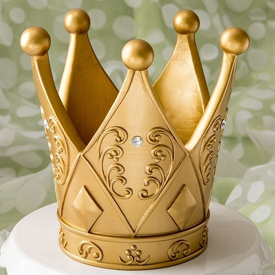 fashioncraft ornate crownshaped goldcolored centerpiece