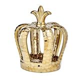 FashionCraft Ornate Open Design Hammered Gold Finish Crown Centerpiece