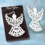 FashionCraft 'Heaven Sent Collection' White Wood Angel Ornament