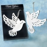 FashionCraft 'Heaven Sent Collection' Elegant White Wood Dove Ornament