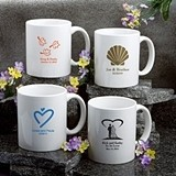 Personalized Silkscreened White Ceramic Coffee Mug for All Occasions