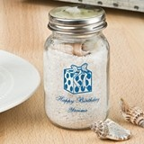 Silkscreened Birthday Designs Personalized Mini Mason Jar w/ Screwtop