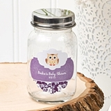 Customized Miniature Glass Mason Jar with Screwtop (Baby Shower)