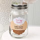 Customized Miniature Glass Mason Jar with Screwtop (Birthday Designs)