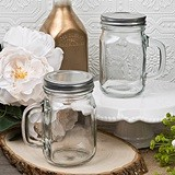 Perfectly Plain Collection 12 Ounce Mason Jar with Handle and Screwtop